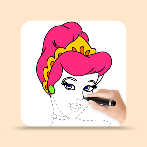 How To Draw Princess - Princess Coloring